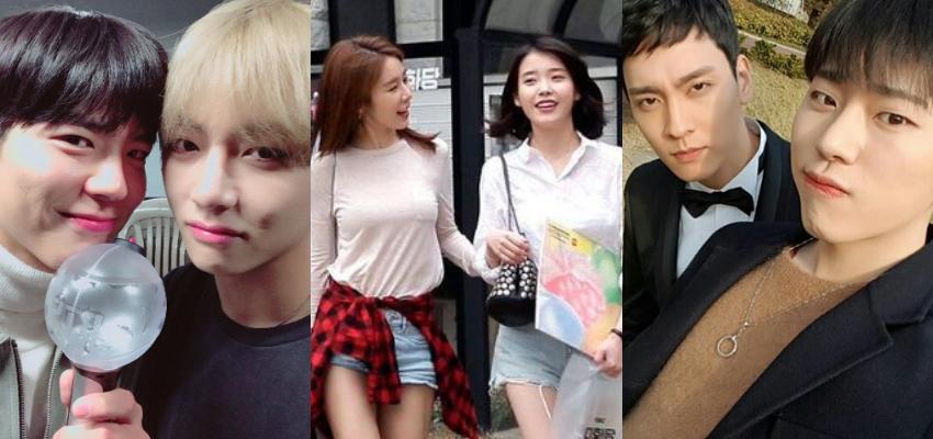 As melhores amizades entre atores e cantores coreanos