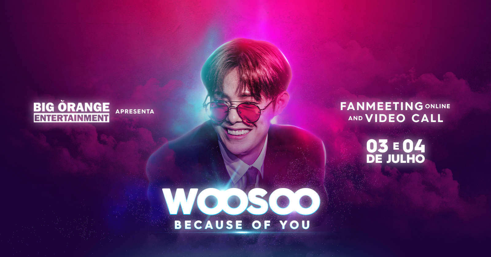 Cantor Woosoo realizará encontro online com fãs brasileiros