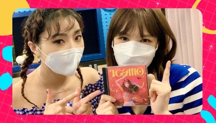 Minzy e Wendy cantam juntas a música Lonely do (2NE1)